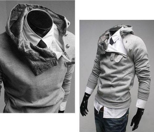 New Men Casual Fashion Zipper Slim Fit Sexy Top Designed Hoodies Jackets Coats