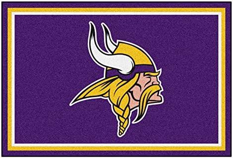 FANMATS NFL Minnesota Vikings Nylon Face 5X8 Plush Rug