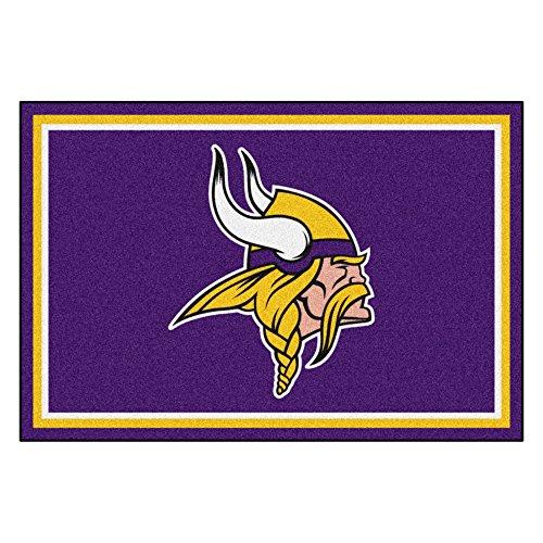 FANMATS NFL Minnesota Vikings Nylon Face 5X8 Plush Rug by Fanmats