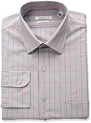 Van Heusen Men's Regular Fit Plaid Dress Shirt
