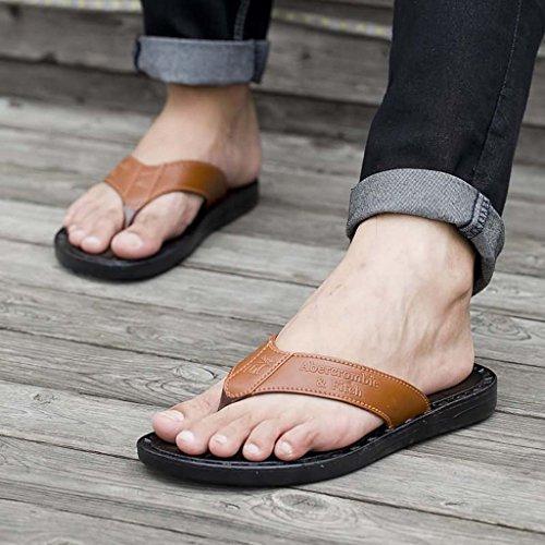ZXCV Zapatos al aire libre El carácter de los hombres emparedó sandalias las zapatillas transpirables Naranja