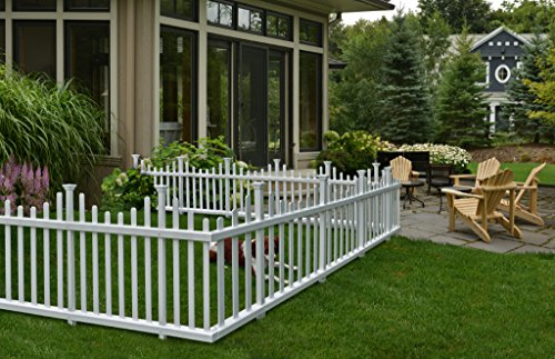 Zippity Outdoor Products ZP19001 No-Dig Vinyl Picket Unassembled Garden Fence (2 Pack), 30