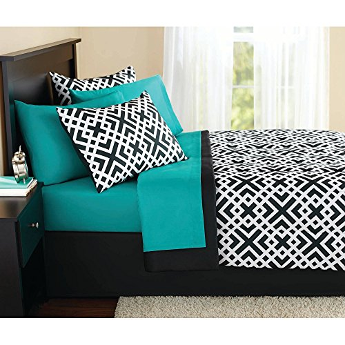 Wholesale Keeco Mainstays Interlocking Geo Full Bed in a Bag #52755987 free shipping