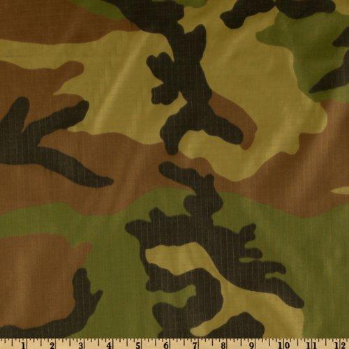 Fabri-Quilt Nylon Rip Stop Camo Fabric by The Yard,