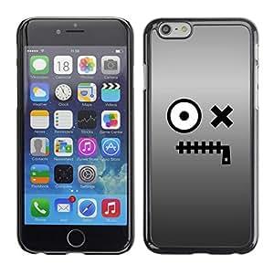 TopCaseStore / la caja del caucho duro de la cubierta de protección de la piel - Eyes Monster Cartoon Character - Apple iPhone 6 Plus 5.5