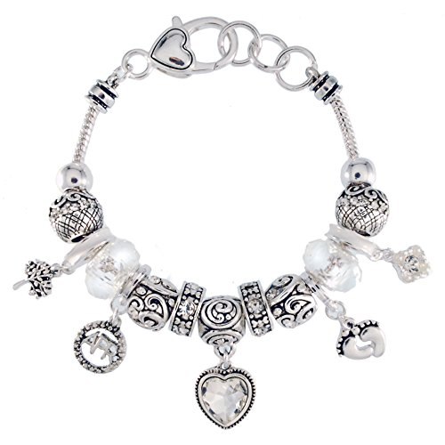 Landau Ambrosia April Birthstone Charm Bracelet by Landau