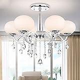LOCO Elegant Modern 6 Light Chandelier with Shade Global Morden, Ceiling Light Fixture For Sale