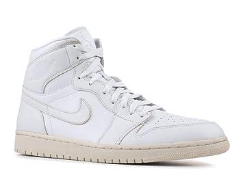 4d9845d35e8 Nike Air Jordan 1 Retro High Prem Pure Platinum Desert Sand Chaussures de  Basket Homme