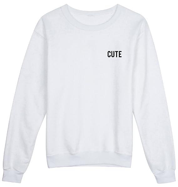 HappyGo Mujeres Casual Impresas Camisetas Sweatshirt Manga Larga Pullover Top Sudaderas: Amazon.es: Ropa y accesorios