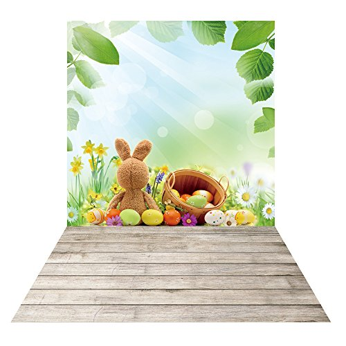 HUAYI 5x8ft Easter backdrops for photography easter eggs wood floor photo backdrops photography background newborn props photo studio D-9948 -