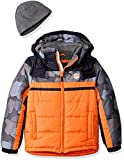 London Fog Boys Classic Heavyweight Color Block Bubble Jacket With Hat