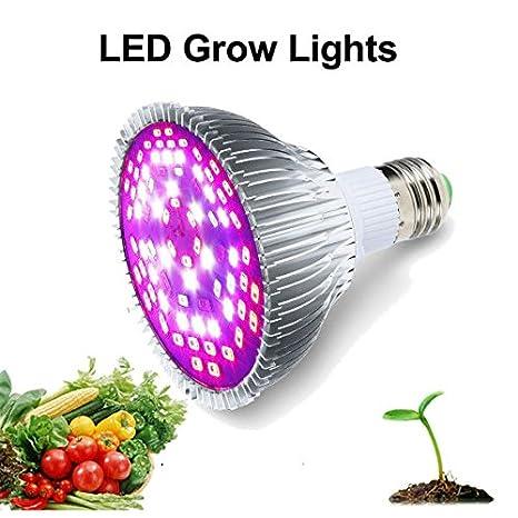 ZEEKEER LED crece la bombilla, luz de relleno de la planta de espectro completo de