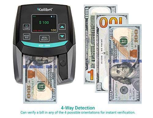 Kolibri KCD-2000 All-Orientation 2-in-1 Counterfeit Money Detector with UV, MG and IR Detection