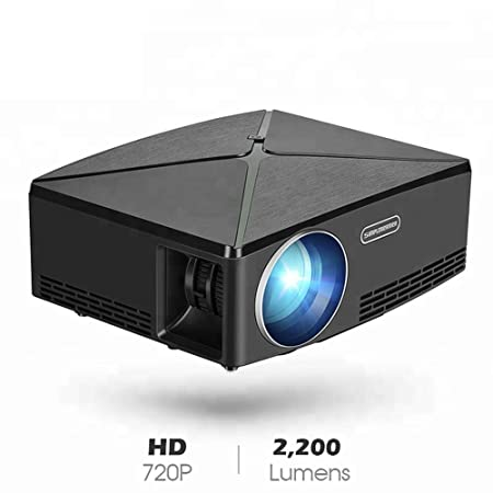 H.L Proyector LED con Soporte HD1080P Portable Home Theater HD ...