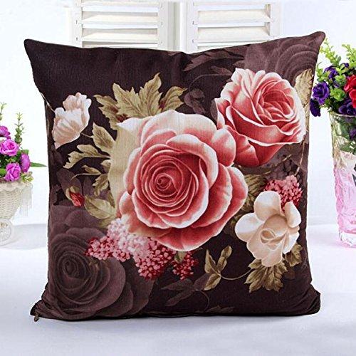AOJIAN Home Decor Flower Decorative Cushion Cover Pillow Protectors Bolster Pillow Case Pillowslip,Throw Pillow Covers