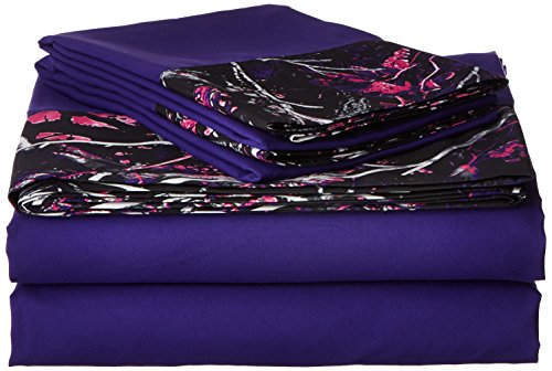 Carstens Muddy Girl Camo 3 Piece Sheet Set, Twin (Girls Camo Comforter Sets)