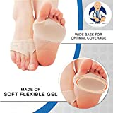 sliding dance step - Anti Grinding Forefoot Cushion, Anti-pain Socks Insoles, Silicone Protection Toe Undies Pad, Nylon Lycra Dance Paw Half Sole Protector, for Foot Pain Ballet Dance Lyrical Shoes Fitness (S)