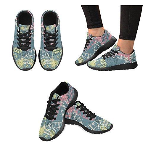 Chaussures De Course De Route Dimpressionprint Womens Jogging Sports Légers De Marche Chaussures De Sport Athletic Tropic Leaves