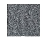20 x 20inch Self Adhesive Carpet Floor Tiles, DIY Peel and Stick Ribbed Carpet Tile for Residential & Commercial Squares Flooring Use - 20PCS (Light Gray)