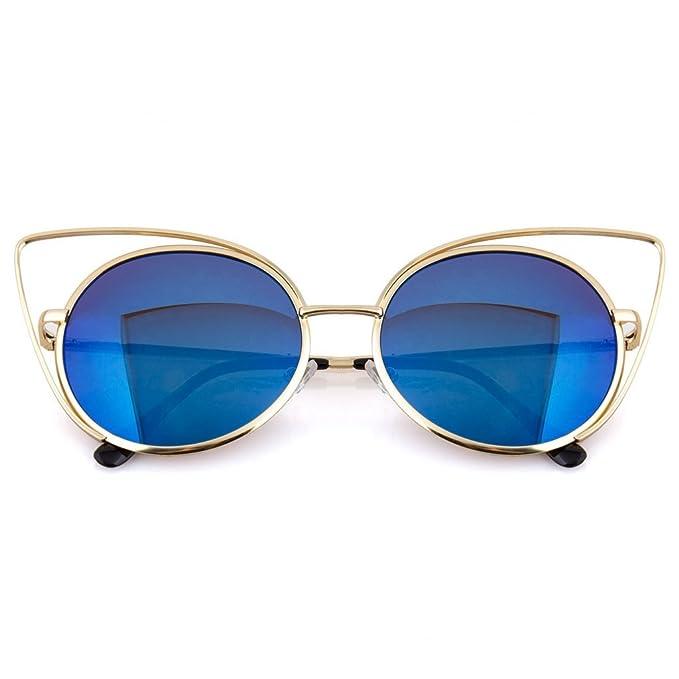Amazon.com: Women\'s Metal Frame Cateye Sunglasses \
