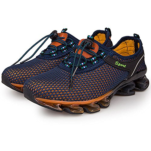 Univers Land Men's Running Athletic Shoes - Breathable Mesh Quick Drying Outdoor shoes Sport shoes Azul real
