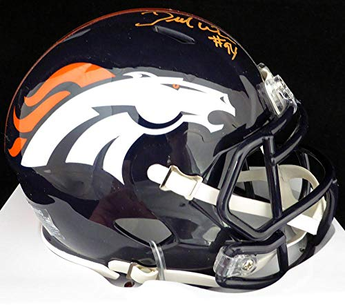 Nfl Bowl Autographed Super (DeMarcus Ware Signed Mini Helmet - Super Bowl 50 Stock #123792 - PSA/DNA Certified - Autographed NFL Mini Helmets)