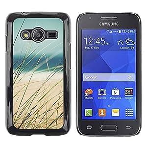 Paccase / SLIM PC / Aliminium Casa Carcasa Funda Case Cover para - Beach Sun Sea Ocean Surf Yellow - Samsung Galaxy Ace 4 G313 SM-G313F
