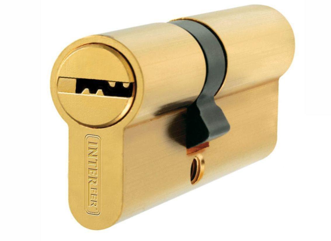 Interfer - Cilindro seguridad 30-30 laton L-15 IMARFE