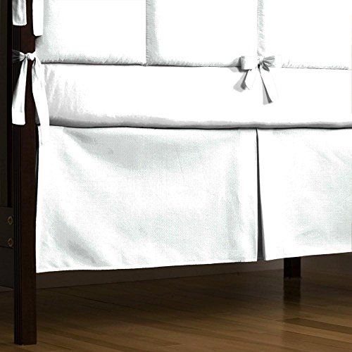 Carousel Designs White Pique 2-Piece Crib Bedding Set