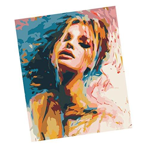 Baosity インテリア 数字 油絵 女の子 デジタル油絵 ホームの商品画像