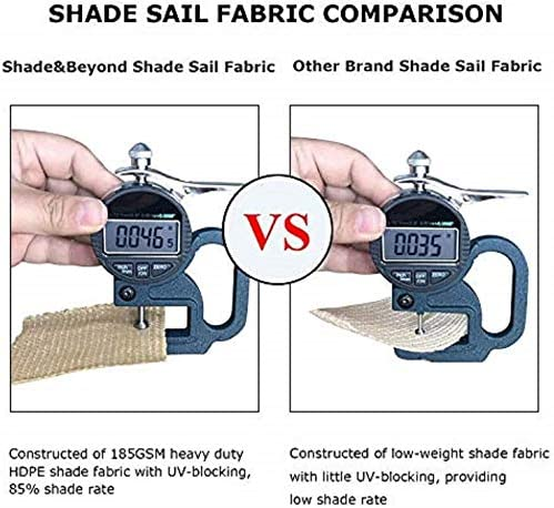 Shade Beyond Sun Shade Sail Triangle 20'x20'x20' UV Block