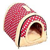 DealsDepot Pet House Nest Multifunctional Travel Pet Bed Medium Cats Dogs - Pink