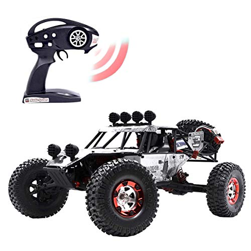 (KELIWOW Electric RC Buggy 1/12 Remote Control Car 2.4Ghz 4WD Desert Off-Road Truck 40KM/h High Speed All Terrain RC Rock Crawler Monster Car for Kids and Adults-Gray )