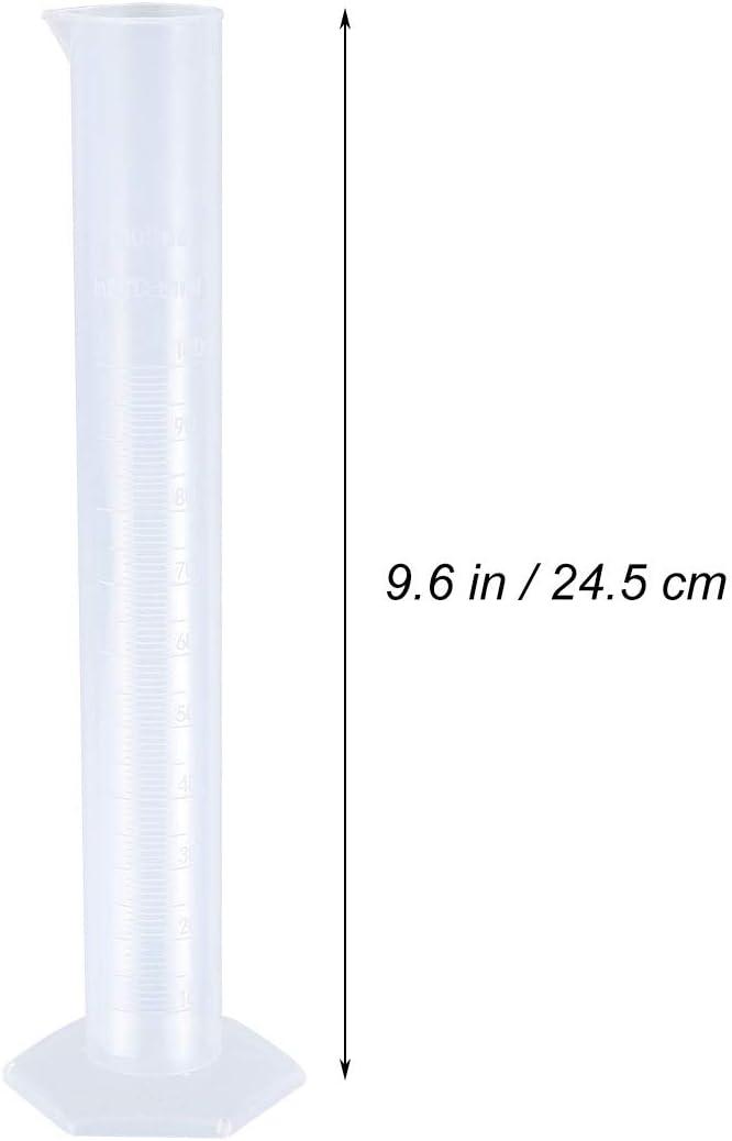 BESTONZON 100 ml Messzylinder mit achteckiger Basis f/ür den Heimgebrauch im Labor