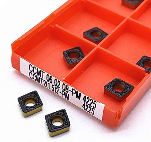 WITHOUT BRAND CCMT060204 PM4225 CCMT060208 PM4225 Drehwerkzeug Karbidklinge CNC-Drehmaschine Werkzeug Ccmt060204 Pm 4225 Ccmt060208 Pm 4225 (Farbe : 50pcs(Boxes), Größe : CCMT060208 PM 4225)