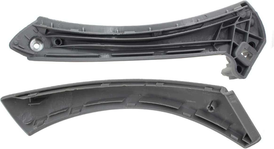 AUTOKAY Inner Outer Door Panel Handle Pull Trim Cover Inner Door Panel Handle Support Bracket for BMW E90 328i Right Side Gray