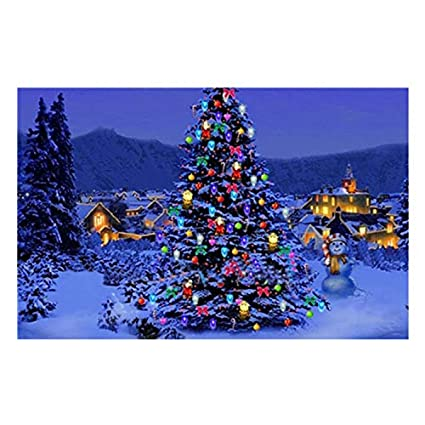 Acrylic Christmas Tree Painting.Amazon Com Diy Oil Painting Paint By Number Kits Diy Canvas
