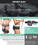 Abs and Body Workout Fitness Belt - FDA Cleared to Tone and Firm Abdominal Muscles - Electric Stimulation Muscle, Waist Trimmer - UNISEX (Electro Gel Included)