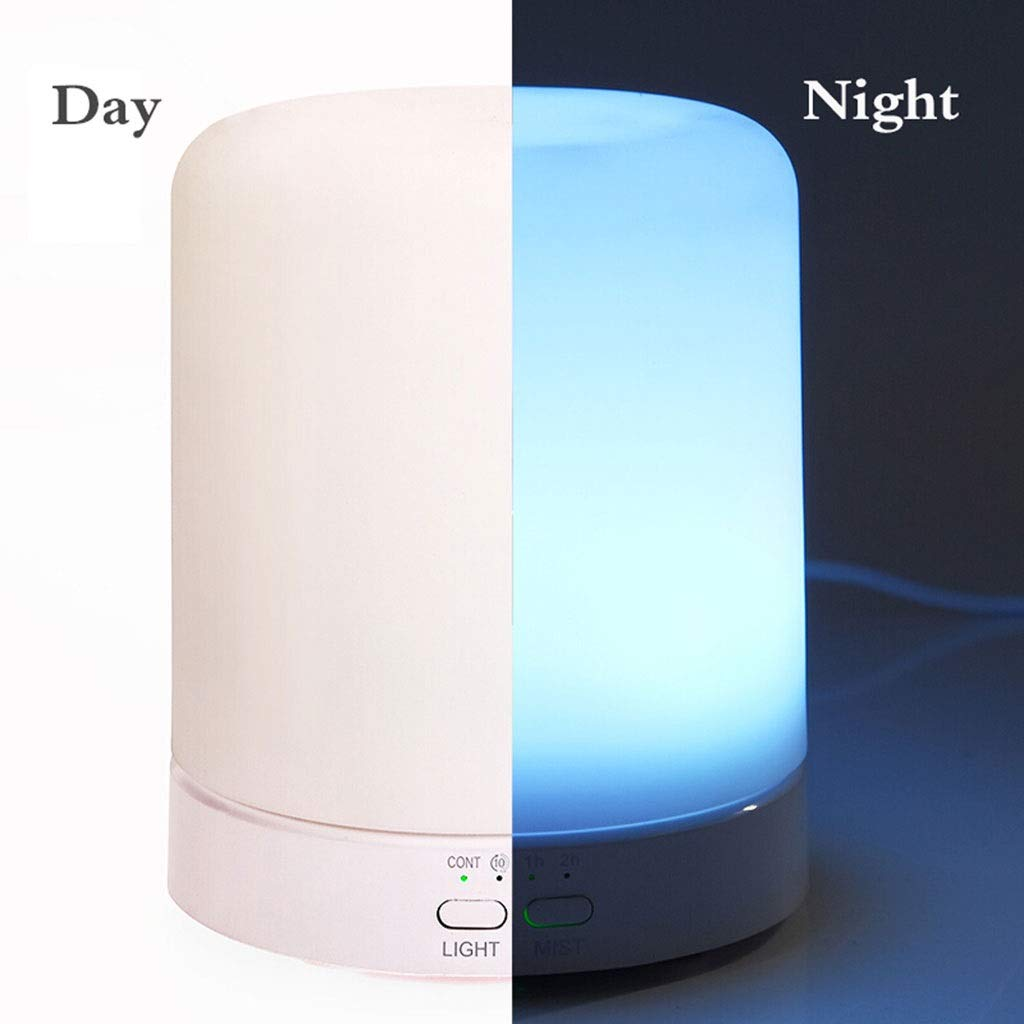 Tai-Lamp Aroma Lamps Aromatic Essential Oil Diffuser Ultrasonic 100ml Humidifier 6 Colors of Light Changed Plug in Home Aromatherapy Stove Humidifier Intelligent Timing Automatic Water-Off by Tai-Lamp (Image #4)