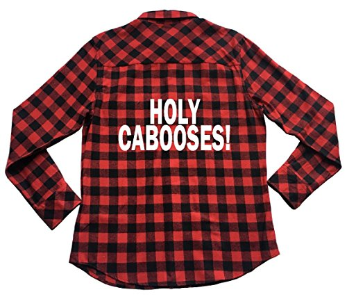 Apple Orange Gifts Holy Cabooses - Plaid Flannel Unisex Shirt Hello Dolly Barnaby Tucker Quote - Orange Caboose