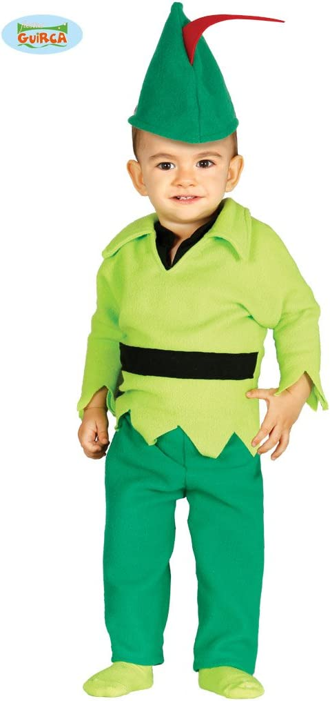 3//4 Anni Colore Verde Guirca- Costume Arciere Peter Pan 82740