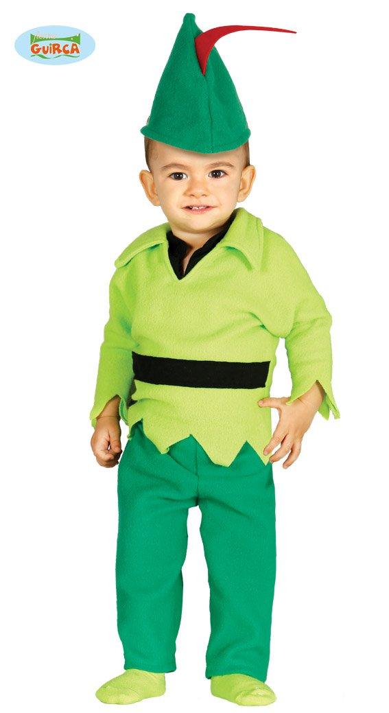 Babykostüm Bogenschütze Kostüm für Kinder Mittelalter Märchen Fasching Gr. 74 - 92, Größe:86/92 Größe:86/92 Guirca