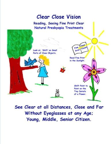 Clear Close Vision - Reading, Seeing Fine Print Clear: Natural Presbyopia Treatment (Black & White - Clark Eyeglasses
