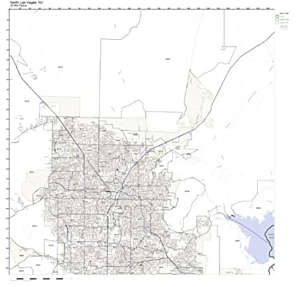 North Las Vegas Map Boundaries.Amazon Com North Las Vegas Nv Zip Code Map Laminated Home Kitchen