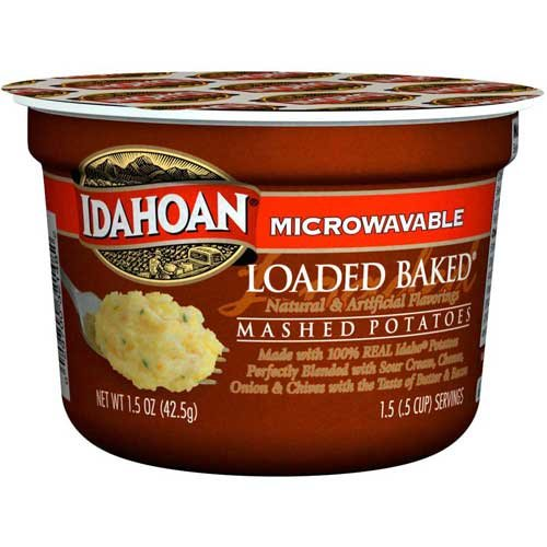 Idahoan Loaded Baked Mashed Potatoes Cup, 1.5 Ounce -- 10 per case.