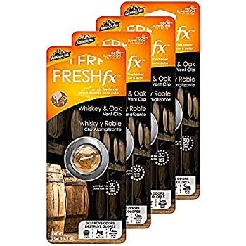 Armor All FRESHfx Car Air Freshener Vent Clip, 4-Pack (Whiskey & Oak)