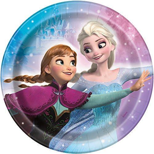 "Disney Frozenラウンド7"" Dessert Plates, 8ct"