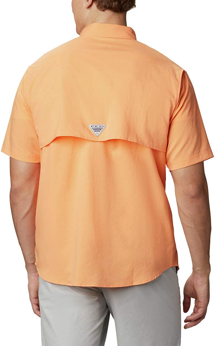 Columbia Men's Blood and Guts III Short Sleeve Woven Shirt Bright Nectar