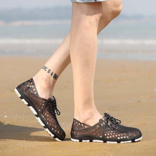 ZXCV Zapatos al aire libre Zapatos del agujero de los hombres, zapatos respirables al aire libre de la playa Gris