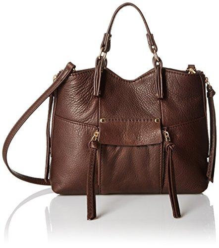 Kooba Handbags Everette Mini Python Cross Body Bag, Chocolate, One Size